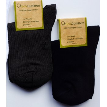 Organic Cotton Black School Socks