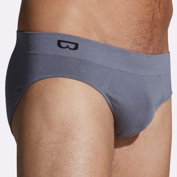 Boody Mens Bamboo Briefs - Grey