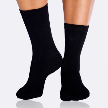 Boody Womens Bamboo Everyday Socks - Black