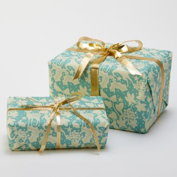 Recycled Wrapping Paper & Tags - Winter Wonderland Print - Pack of 4