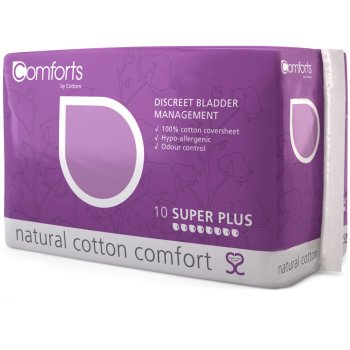 Comforts Discreet Bladder Management Pads - Super Plus - Pack of 10