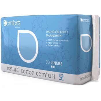 Comforts Discreet Bladder Management Pads - Liners - Pack of 30