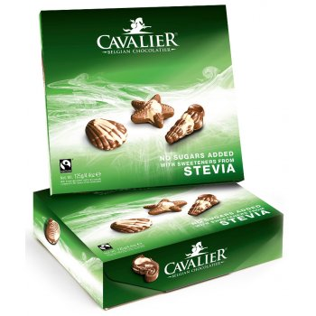 Cavalier Stevia Chocolate Seashells - 125g