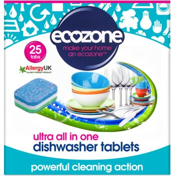 Ecozone Ultra All-In-One Dishwasher Tablets - 25 tabs