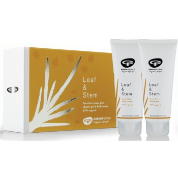 Green People Leaf & Stem Scent-Free Body Collection Gift Set - 200ml