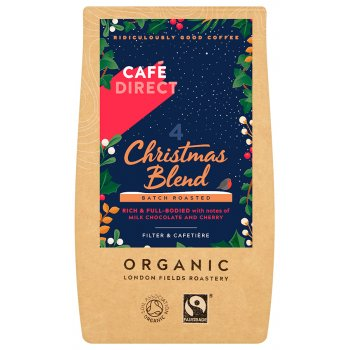 Cafedirect Fairtrade Organic Christmas Blend Ground Coffee - 227g
