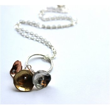 LA Jewellery Recycled Nectar Necklace on a Silver Chain