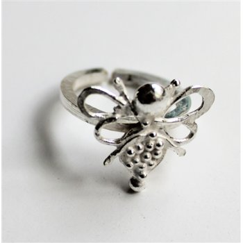 LA Jewellery Recycled Silver Nurture Bee Ring