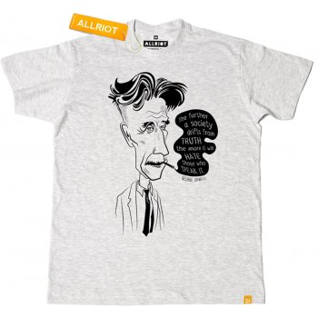 All Riot George Orwell 1984 Organic T-Shirt