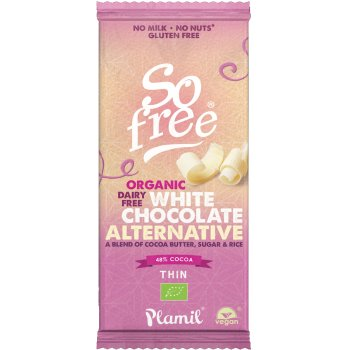 Plamil So Free White Chocolate Bar - 70g