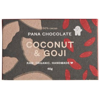 Pana Chocolate Raw Organic Coconut & Goji Chocolate Bar - 45g