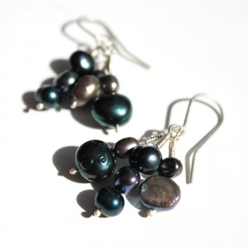 LA Jewellery Blue Dusk Recycled Silver Earrings