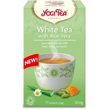 Yogi Organic White Tea with Aloe Vera - 17 Bags
