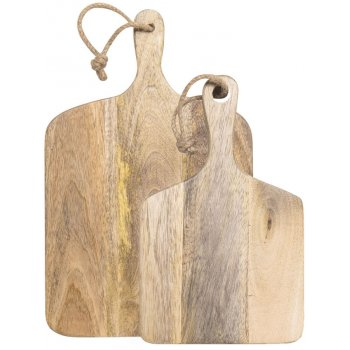 Set of Two Mango Wood Cutting Boards