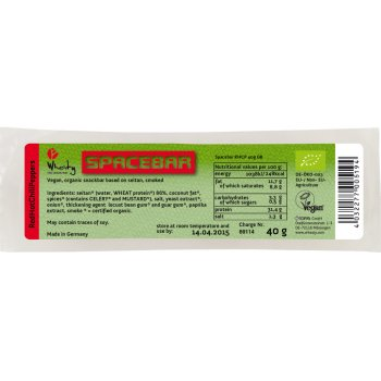 Wheaty Organic Vegan Red Hot Chilli Peppers Spacebar - 40g