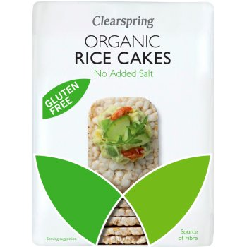 Clearspring Slim Rice Cakes - Plain 130g