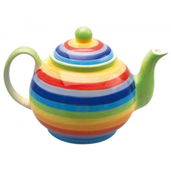 Handpainted Large Rainbow Teapot