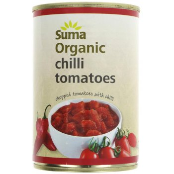 Suma Organic Chopped Tomatoes with Chilli - 400g
