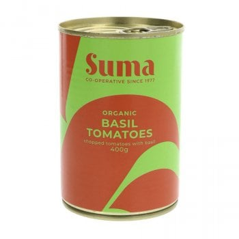 Suma Organic Chopped Tomatoes with Basil - 400g