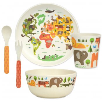Petit Collage Bamboo Dinnerware - Our World