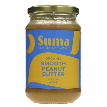 Suma Organic Peanut Butter - Smooth - Unsalted - 340g