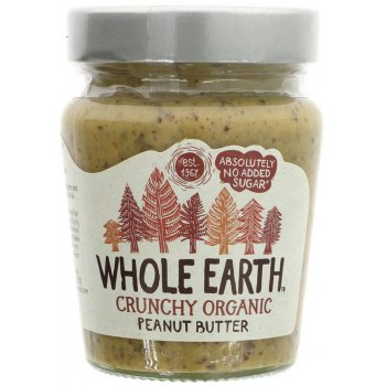 Whole Earth Organic Crunchy Peanut Butter - No Added Sugar - 227g