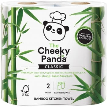 The Cheeky Panda FSC 100 percent  Bamboo Kitchen Towel - Pack of 2