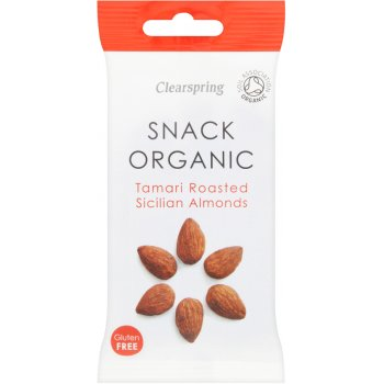 Clearspring Tamari Roasted Sicillian Almonds 30g