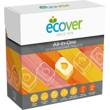 Ecover Dishwash Tablets - All In One - 22 Tablets