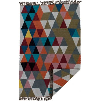 Triangles Woven Wool Rug