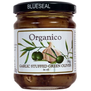 Organico Garlic Stuffed Olives - 190g