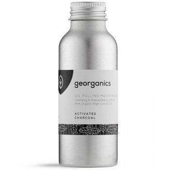 Georganics Oil Pulling Mouthwash - Activated Charcoal - 100ml