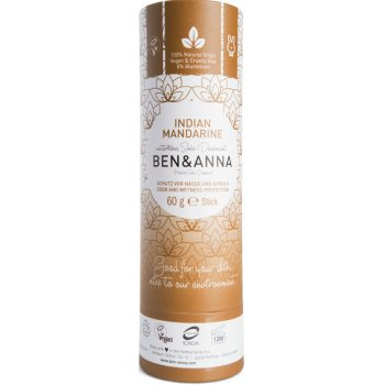 Ben & Anna Natural Soda Deodorant - Indian Mandarine - 60g