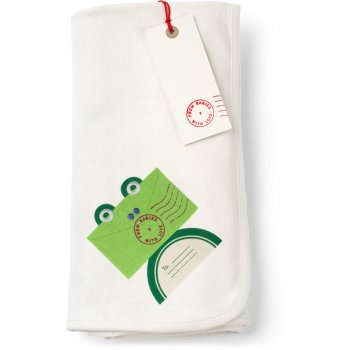 From Babies with Love Reversible Frog Swaddling Blanket