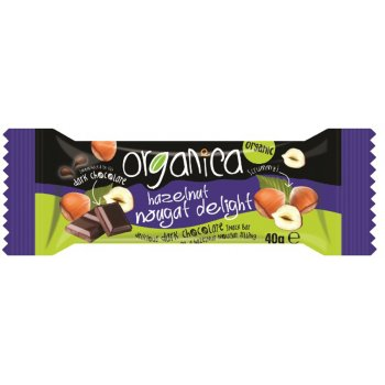 Organica Hazelnut Nougat Dark Chocolate 40g