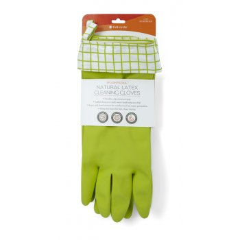 Full Circle Splash Patrol Latex Cleaning Gloves - Green/White
