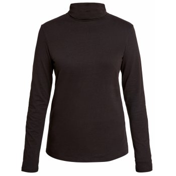 People Tree Laila Roll Neck Top - Black