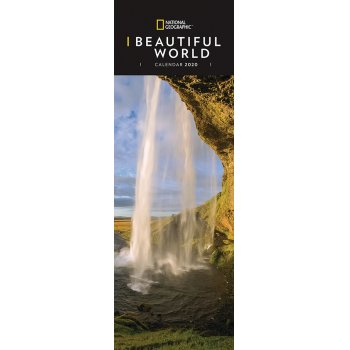 National Geographic Beautiful World 2020 Slim Calendar