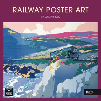 National Railway Museum Railway Poster Art 2020 Wall Calendar