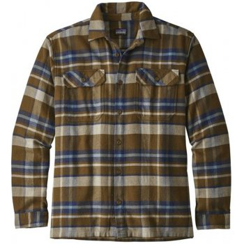 Patagonia Mens Basin Fjord Flannel Shirt - Sediment