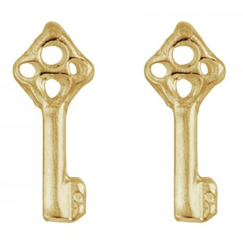 Kashka London Childrens Key and Hope Gold Earrings