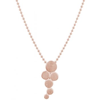 Kashka London Big Bubbles Rose Gold Plated Necklace