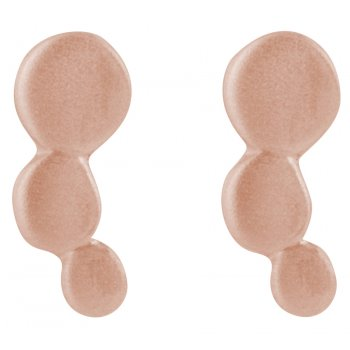Kashka London Small Bubbles Rose Gold Plates Earrings