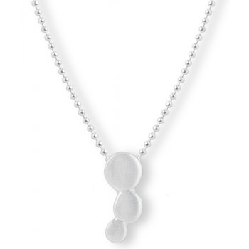 Kashka London Small Bubbles Silver Pendant Necklace