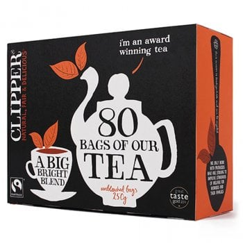 Clipper Fairtrade Tea - 80 Bags