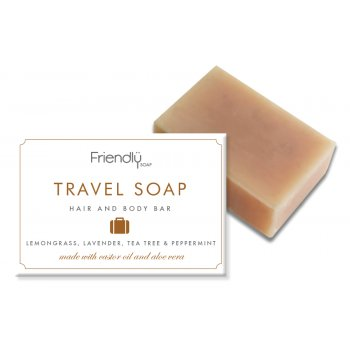 Friendly Soap Hair & Body Travel Soap Bar - 95g