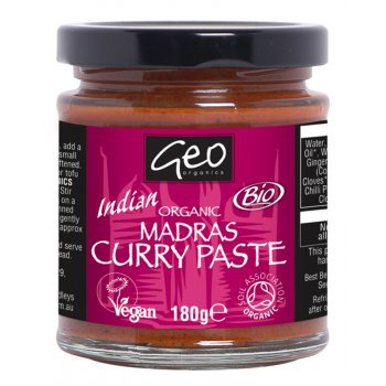 Geo Organics Madras Curry Paste  - 180g