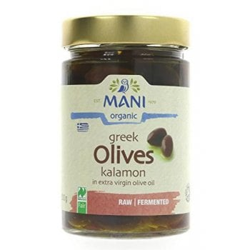 Mani organic Kalamon Olives in Olive Oil - 280g