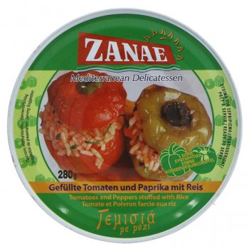 Zanae Stuffed Peppers -Tomato & Rice - 280g