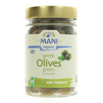 Mani Organic Green Olives al Naturel x 205g